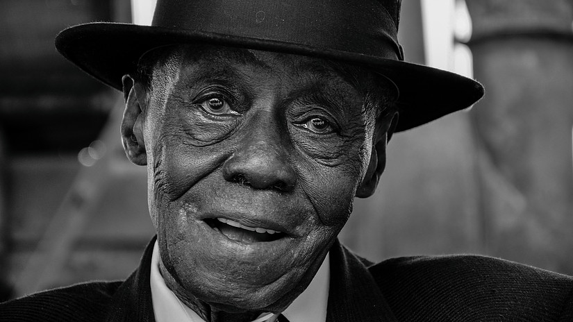 Pinetop Perkins photo by Kim Welsh